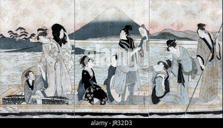 Mount Fuji,Ferry - Stock Photo