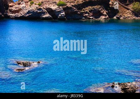 Cretan wild coastline and countryside - Stock Photo