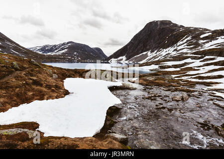 Norwegian glacier landscape - Stock Photo