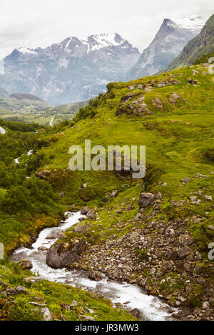 Upright Norwegian scenery - Stock Photo