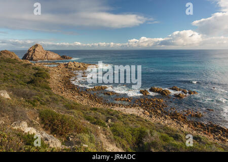 Viewpoint over Canal rocks, Margaret river, South-western Australia - Stock Photo
