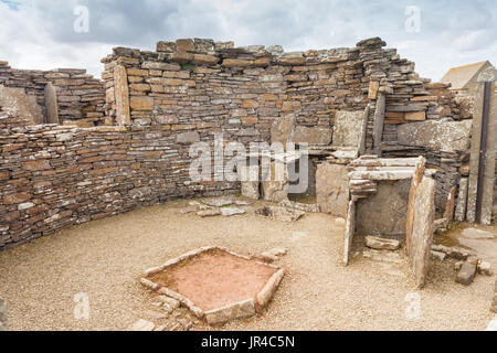 The Broch of Gurness, Orkney neolithic site - Stock Photo