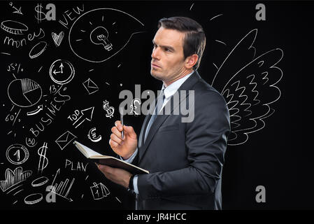 businessman planning marketing strategy - Stock Photo