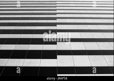 Building downtown Seattle abstract views of building and glass windows with reflections - Stock Photo