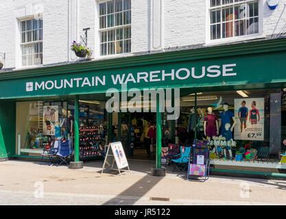Mountain Warehouse store, England, UK - Stock Photo