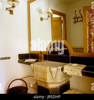 Rustic style bathroom - Stock Photo