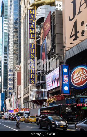 Madame Tussauds Wax Museum, W. 42nd Street, Times Square, NYC, USA - Stock Photo