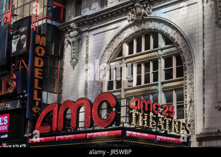 AMC Empire 25 Movie Theater in Times Square, NYC, USA - Stock Photo