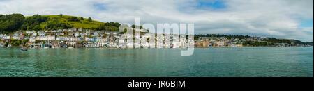 Dartmouth waterfront and river Dart, Devon, England, UK - Stock Photo