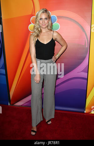 Beverly Hills, Ca. 3rd Aug, 2017. Kristine Leahy at the 2017 NBC Summer TCA Press Tour at the Beverly Hilton Hotel - Stock Photo