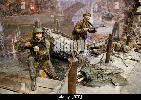 Kaliningrad Region, Russia. 3rd Aug, 2017. Detail of a 3-dimensional panoramic exhibition titled 'Konigsberg 1945: - Stock Photo
