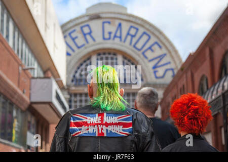 Blackpool, Lancashire, UK. 4th August, 2017. Rebellion Festival world's largest punk festival begins as thousands - Stock Photo