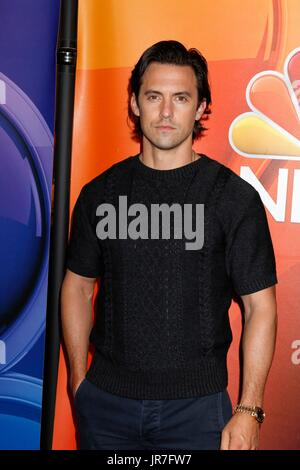Beverly Hills, CA. 3rd Aug, 2017. Milo Ventimiglia at arrivals for TCA Summer Press Tour: NBC Universal, The Beverly - Stock Photo