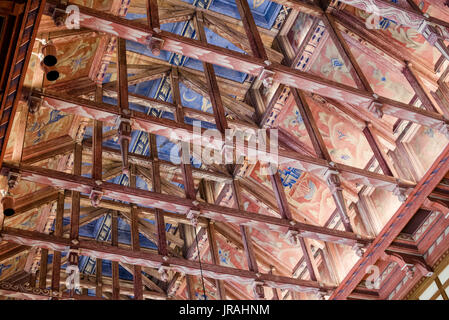 Council Chamber ceiling of Stockholm City Hall, Sweden - Stock Photo