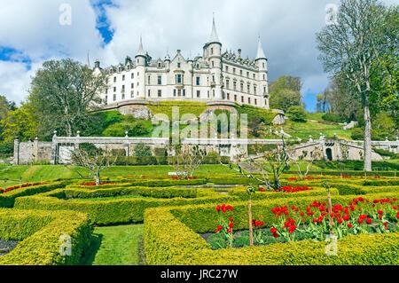 Dunrobin Castle Museum & Gardens near Golspie Highland Scotland - Stock Photo