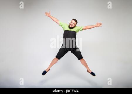 happy fat man - Stock Photo