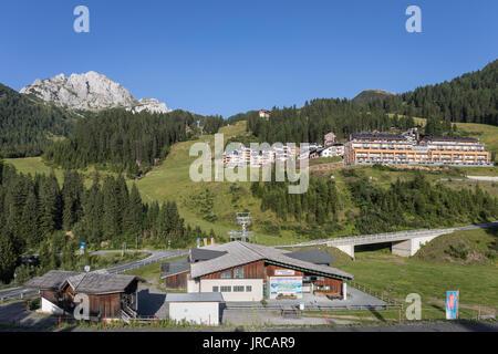 Nassfeld ski area in summer, Carnic Alps, Carinthia, Austria - Stock Photo