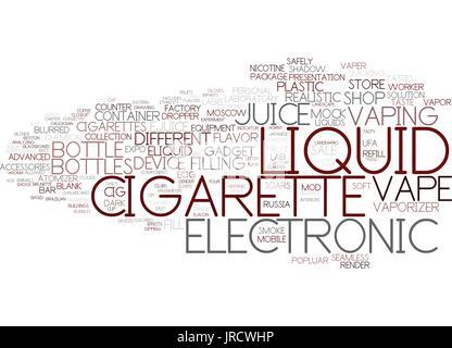 e-liquid word cloud concept - Stock Photo