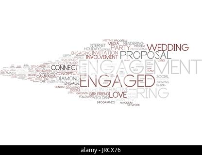 engaged word cloud concept - Stock Photo