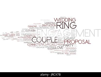 engagement word cloud concept - Stock Photo