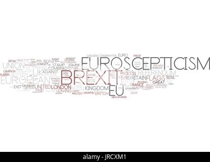 euroscepticism word cloud concept - Stock Photo