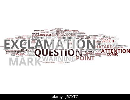 exclamation word cloud concept - Stock Photo