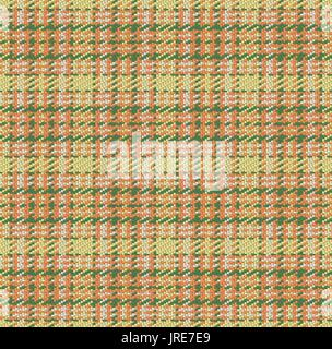 Checked material pattern, tartan and plaid fabric background, seamless vector - Stock Photo