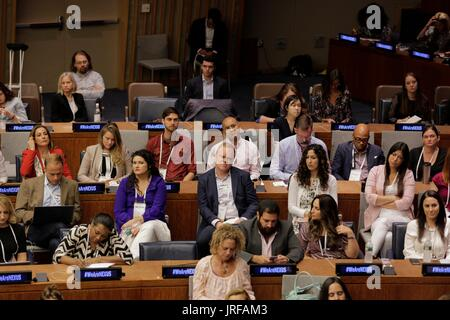 United Nations, New York, USA, July 27 2017 - The 7th annual NEXUS Global Summit on Innovative Philanthropy and - Stock Photo