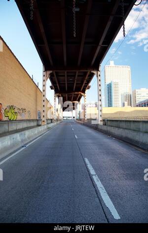 Freeway ramp in New York, NY, USA. - Stock Photo