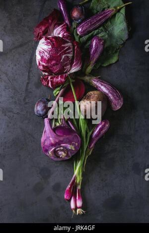 Assortment of purple vegetables - Stock Photo