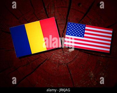Romanian American Flag