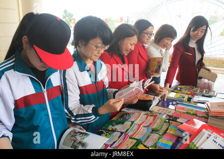 HAI DUONG, VIETNAM, APRIL, 14: Students reading in library on April, 14, 2015 in Hai Duong, Vietnam. - Stock Photo
