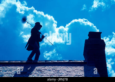 Chimney sweep in Stowe Vermont - Stock Photo