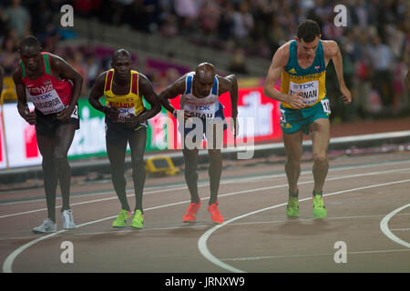 London, UK. 5th August, 2017. The Englishman Mo Farah, 10,000m world champion at the IAAF World Championships in - Stock Photo