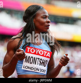 London, UK. 6th August, 2017. Amantle Montsho, Botswana at the start of heat six of the Women's 400m  on day three - Stock Photo