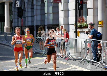 August 6th 2017 World Athletics Championship in London. IAAF women marathon 06/08/2017 started at 2pm local time. - Stock Photo