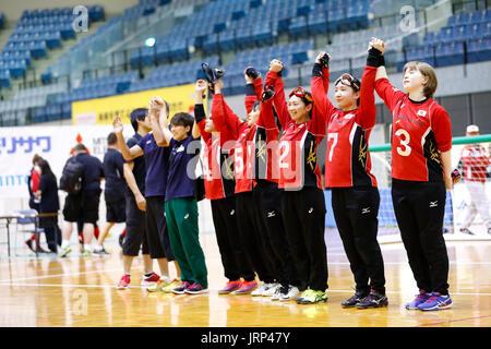 Japan team group (JPN),  AUGUST 6, 2017 - Goalball :  2017 Japan Para Championships Goalball  Women's Final match - Stock Photo