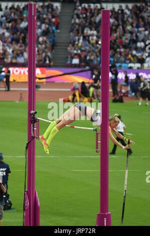 London, UK. 6th August 2017. IAAF World Championships.  Sunday. Pole Vault, Women's final.. Credit: Matthew Chattle/Alamy - Stock Photo