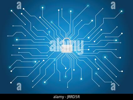 Cyber security background - Stock Photo