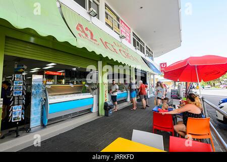 Wicked Ice Cream Shop in Macrossan Street, Port Douglas, Far North Queensland, FNQ, QLD, Australia - Stock Photo