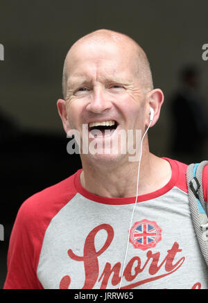 Michael 'Eddie' Edwards seen at the BBC Studios in London, 16th July 2017 - Stock Photo