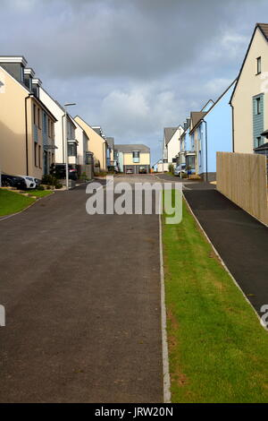 A nice new road full of new houses for sale or sold, these houses are a mere 8 minutes away on foot from the beaches - Stock Photo
