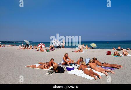 Nyborg beach,  Fyn, Denmark, Scandinavia, Europe - Stock Photo