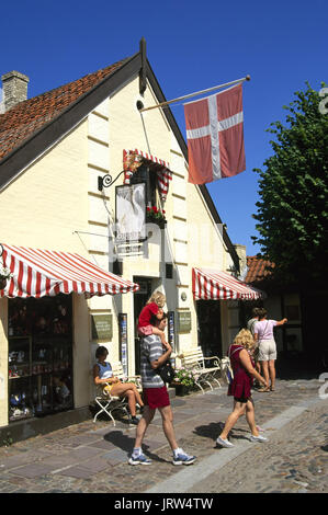 Souvenirshop at HC Andersen-Museum, Odense,  Fyn, Denmark, Scandinavia, Europe - Stock Photo