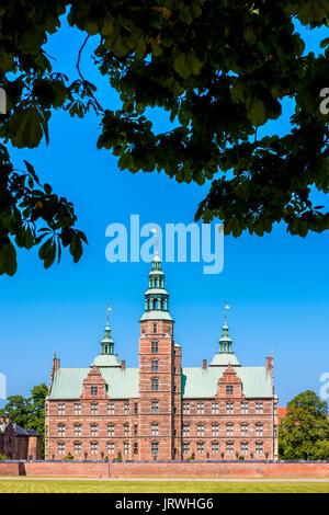 Rosenborg Castle in Copenhagen Denmark - Stock Photo