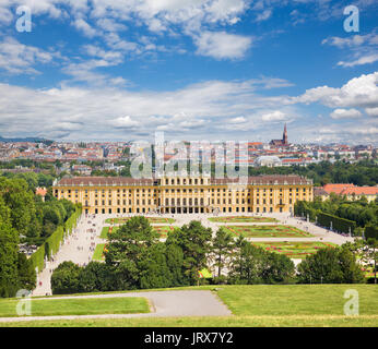 Vienna - The Schonbrunn palace and the gardens and park.