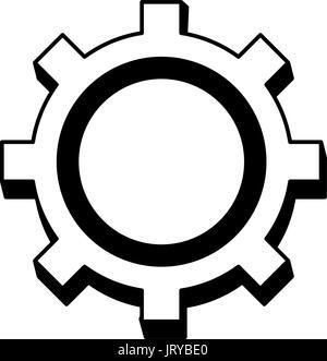 gear working machinery pin progresiruet leading - Stock Photo