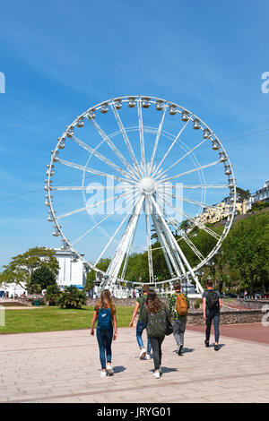 the english riviera wheel on the promenade in torquay, torbay, devon, england, britain, uk. - Stock Photo