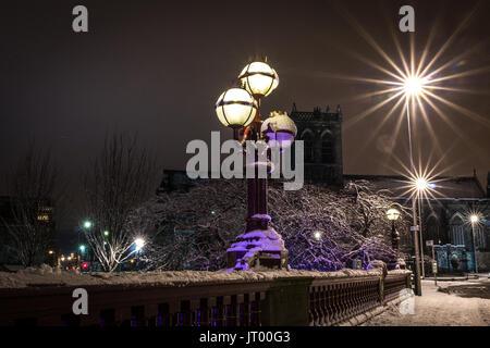 Ian Paisley Abbey At night Shot from Abbey Bridge During winter last year - Stock Photo