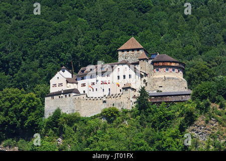 The 12th-century Vaduz Castle (Schloss Vaduz) at Vaduz, Liechtenstein - Stock Photo